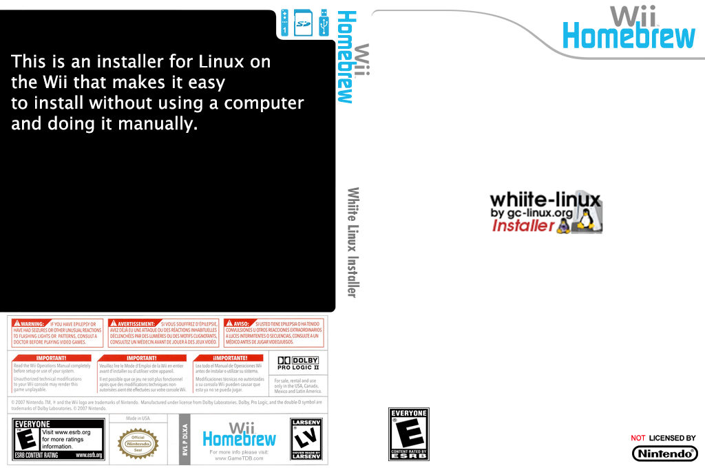 Linux Installer Wii coverfullHQ (DLXA)
