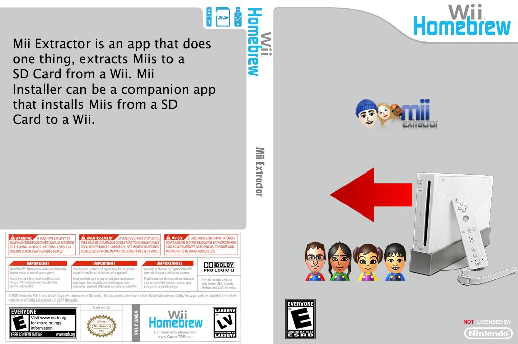 Mii Extractor Wii coverfullHQ (DMEA)
