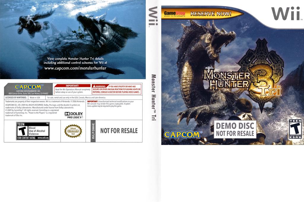 Monster Hunter Tri (Demo) Wii coverfullHQ (DMHE08)