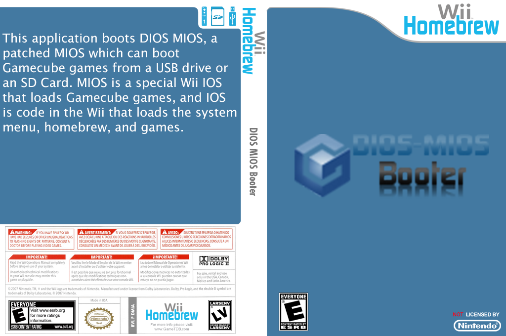 DIOS MIOS Booter Wii coverfullHQ (DMIA)