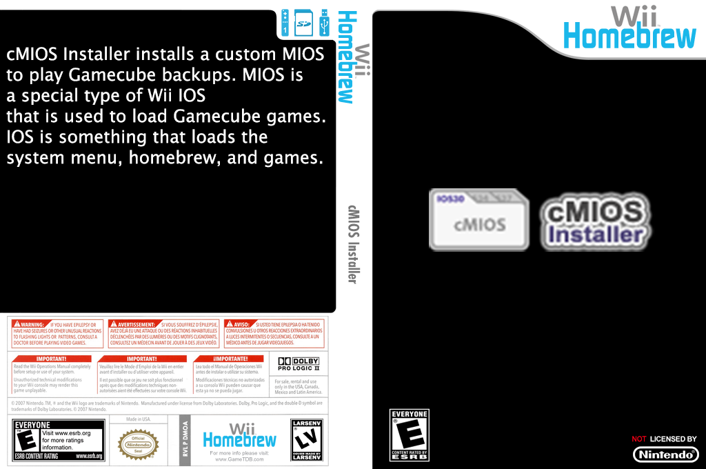 cMIOS installer Wii coverfullHQ (DMOA)