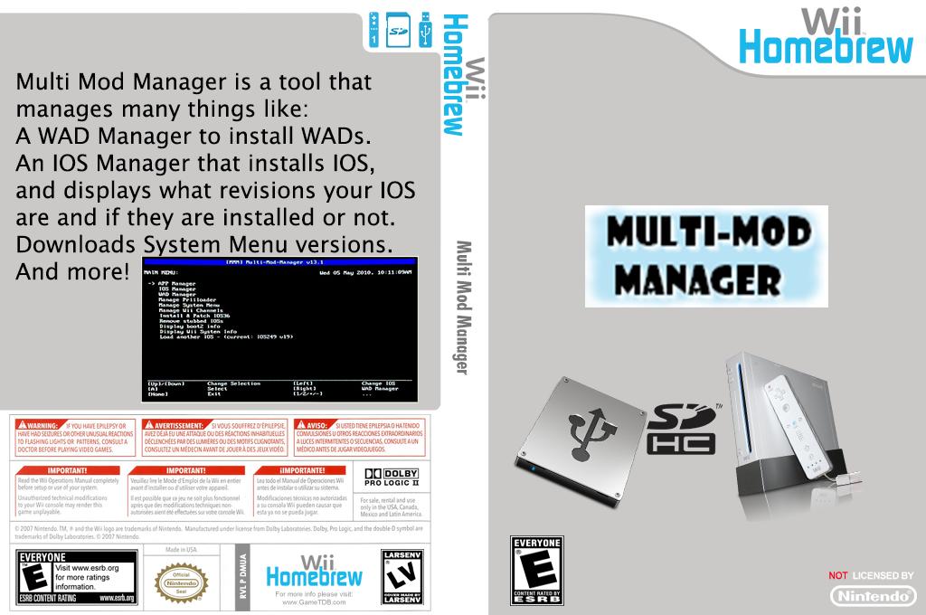 Multi Mod Manager Wii coverfullHQ (DMUA)