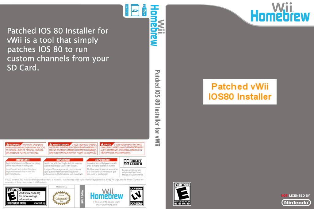 Patched IOS 80 Installer for vWii Wii coverfullHQ (DPIA)