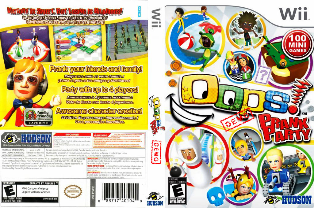 Oops! Prank Party (Demo) Wii coverfullHQ (DPIE18)