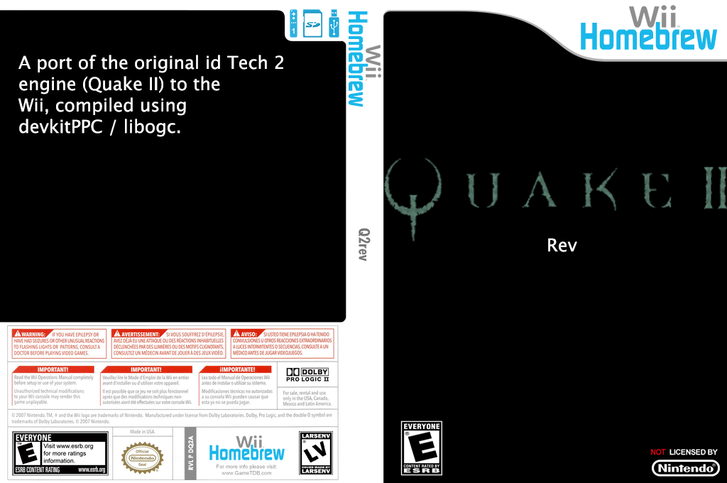 Q2rev Wii coverfullHQ (DQ2A)