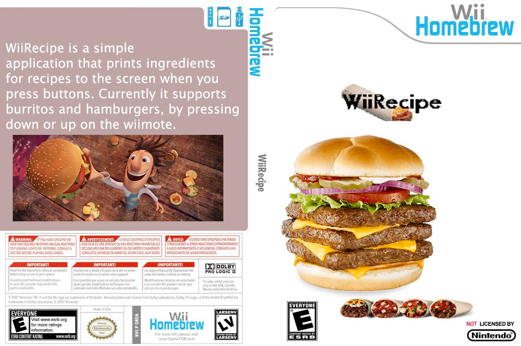 Wiirecipe Wii coverfullHQ (DREA)