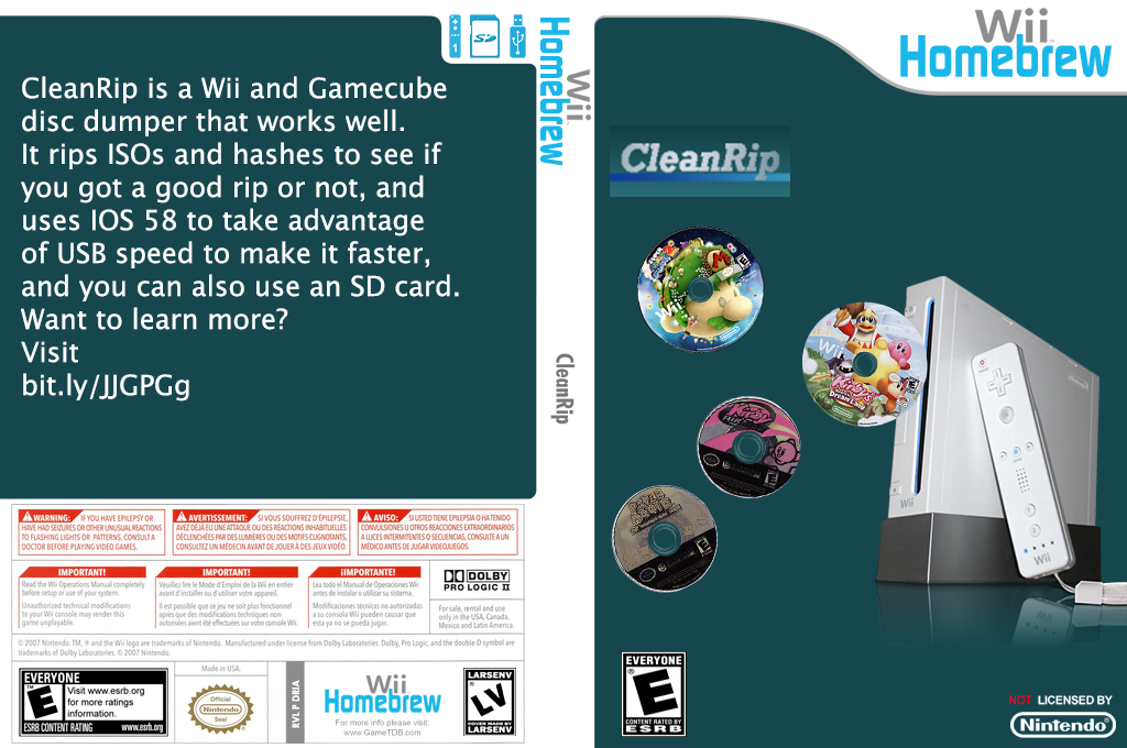 Cleanrip Wii coverfullHQ (DRIA)