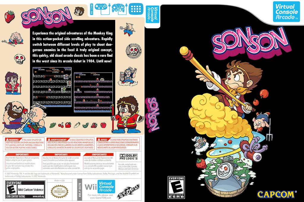 SonSon Wii coverfullHQ (E57E)
