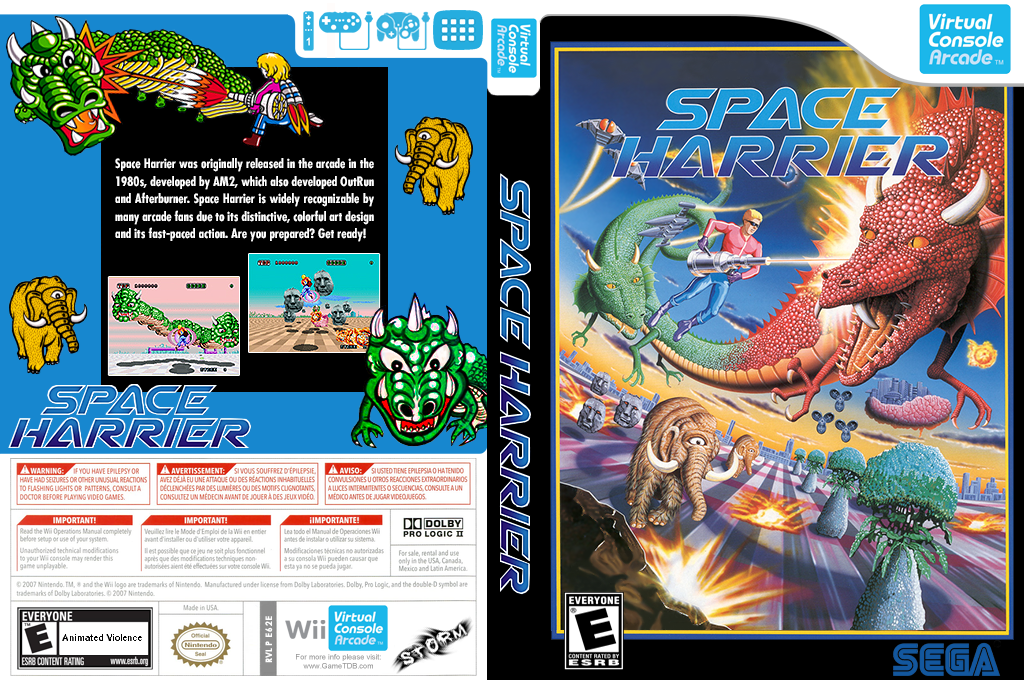 Space Harrier Wii coverfullHQ (E62E)
