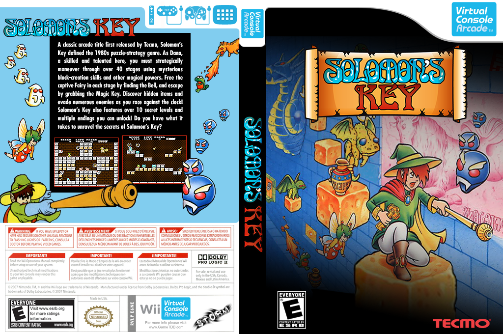 Solomon's Key Wii coverfullHQ (E6NE)
