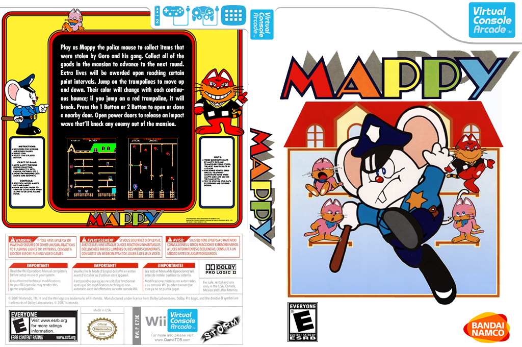 Mappy Wii coverfullHQ (E73E)