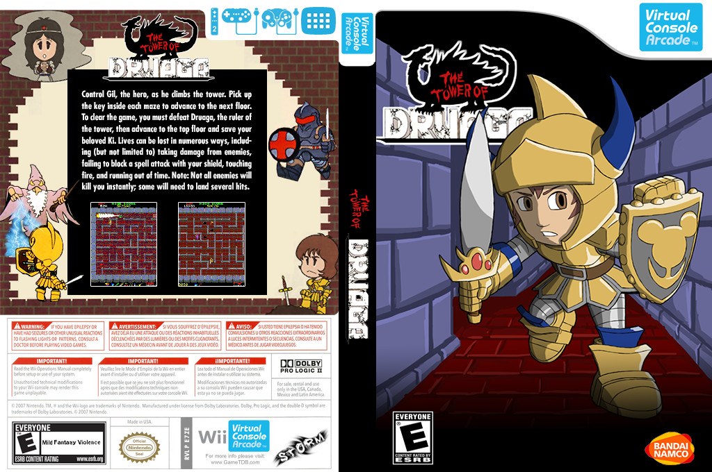 The Tower of Druaga Wii coverfullHQ (E7ZE)