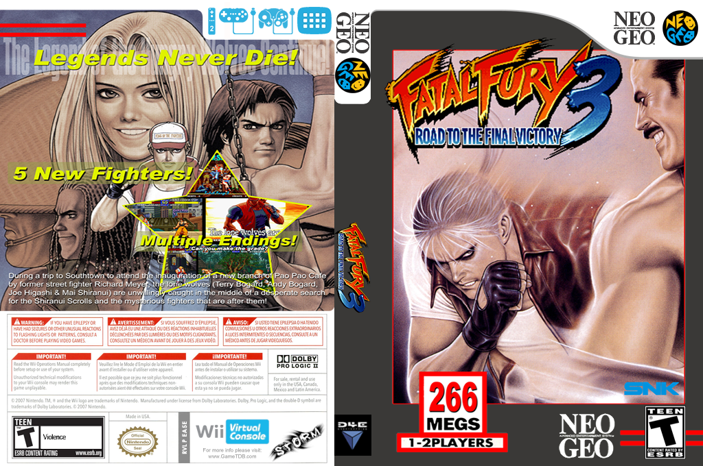 Fatal Fury 3: Road to the Final Victory Wii coverfullHQ (EA5E)