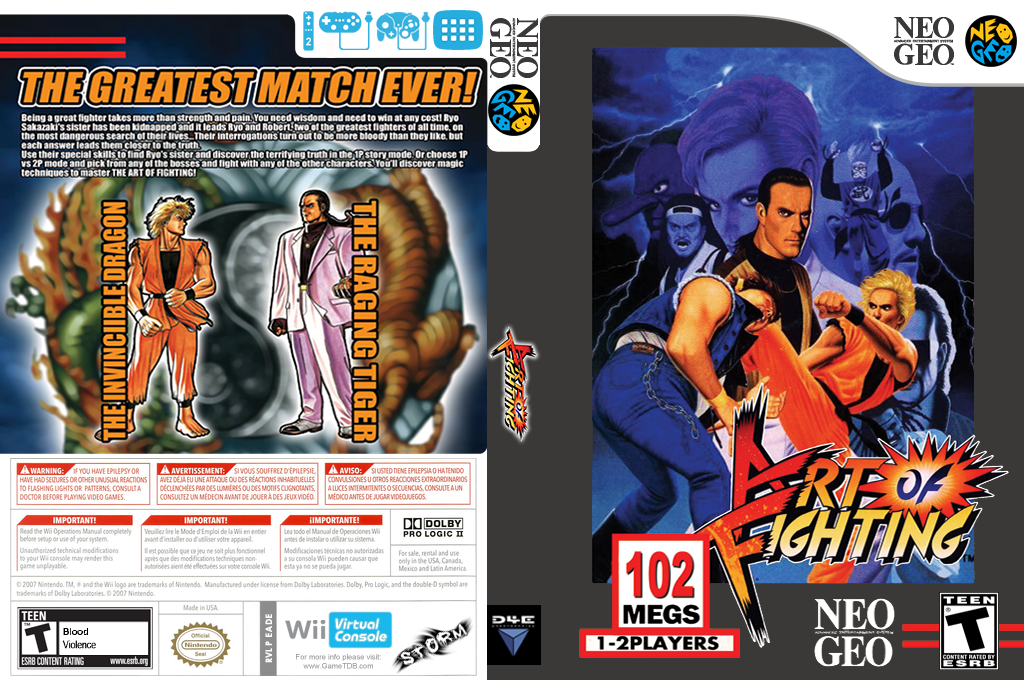 Art of Fighting Wii coverfullHQ (EADE)