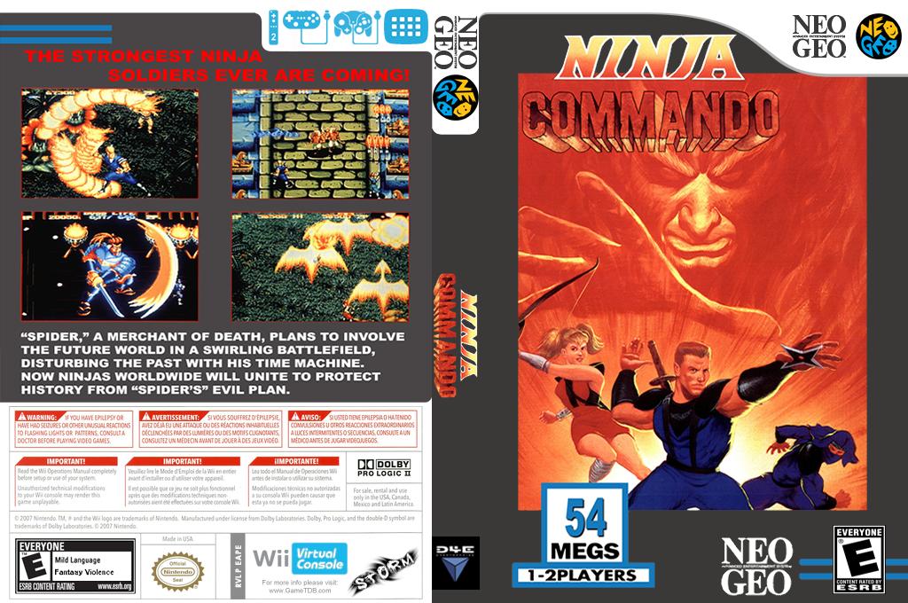 Ninja Commando Wii coverfullHQ (EAPE)