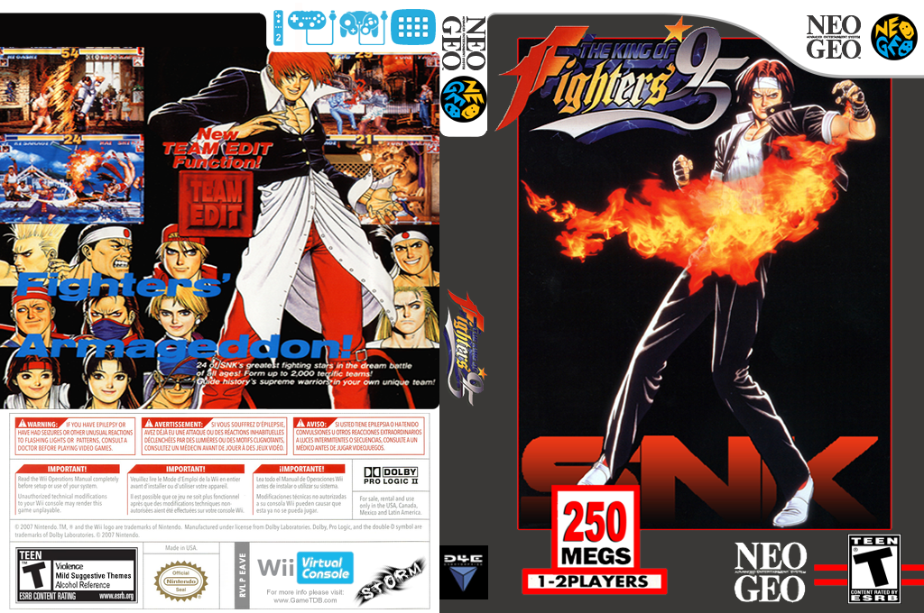 The King of Fighters '95 Wii coverfullHQ (EAVE)