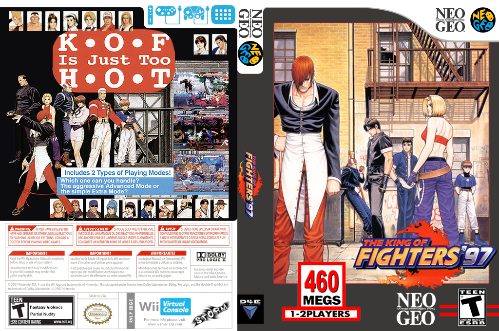 The King of Fighters '97 Wii coverfullHQ (EBGE)