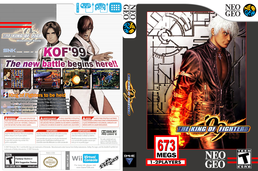 The King of Fighters '99 Wii coverfullHQ (ECJE)