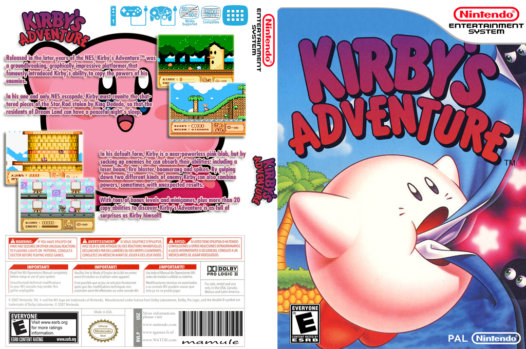 Kirby's Adventure Wii coverfullHQ (FA8E)