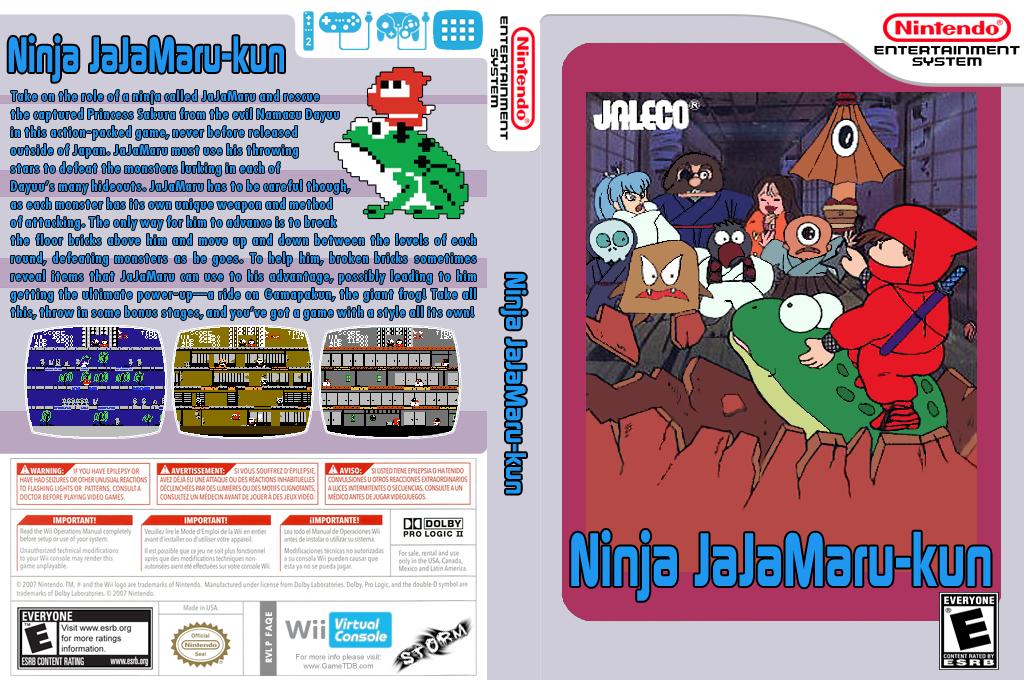 Ninja JaJaMaru-kun Wii coverfullHQ (FAQN)