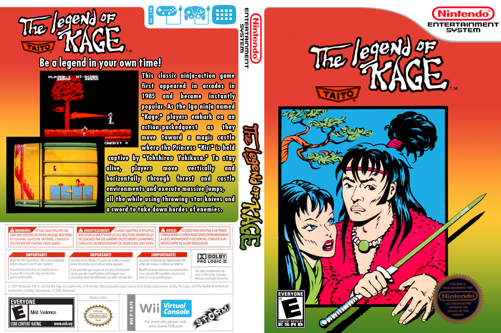 The Legend of Kage Wii coverfullHQ (FATE)