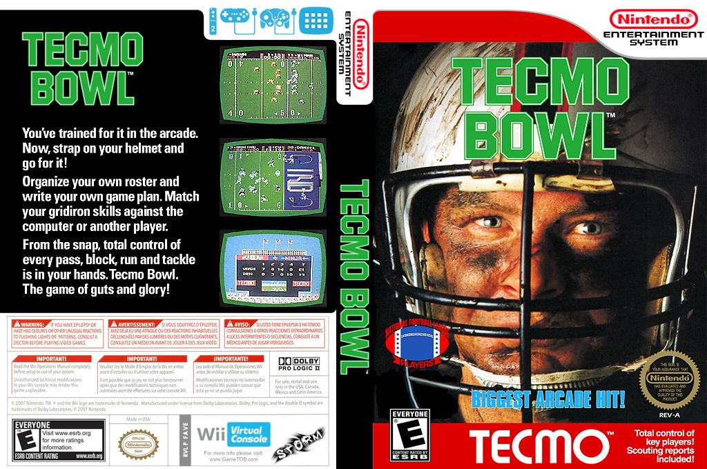 Tecmo Bowl Wii coverfullHQ (FAVE)
