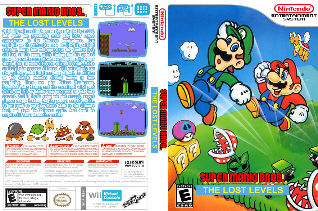 Super Mario Bros.: The Lost Levels Wii coverfullHQ (FB2N)