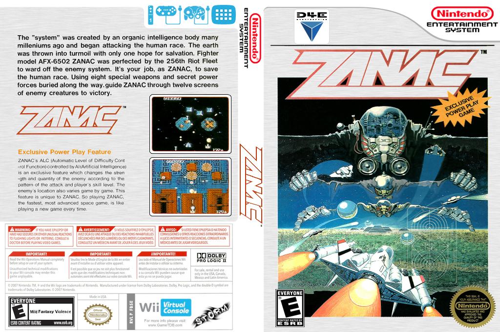 Zanac Wii coverfullHQ (FB5E)