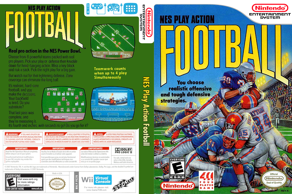 NES Play Action Football Wii coverfullHQ (FC7E)