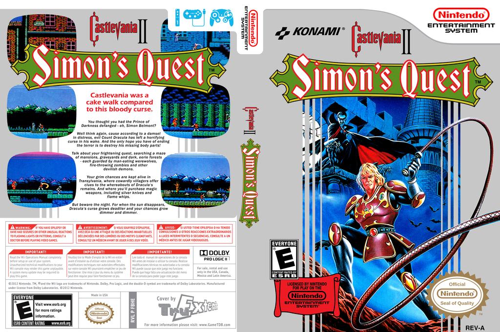 Castlevania II: Simon's Quest Wii coverfullHQ (FC8E)
