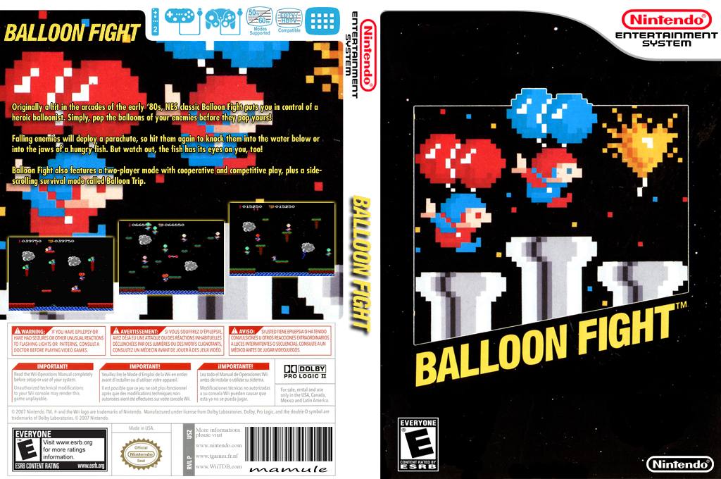 Balloon Fight Wii coverfullHQ (FCPE)
