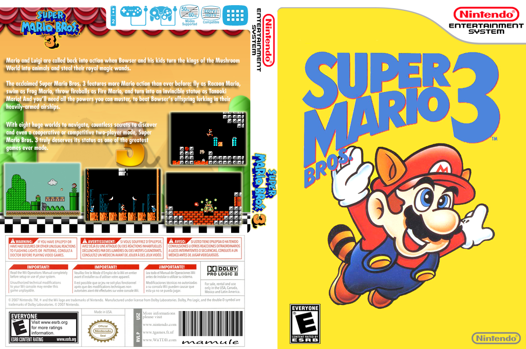 Super Mario Bros. 3 Array coverfullHQ (FCWE)