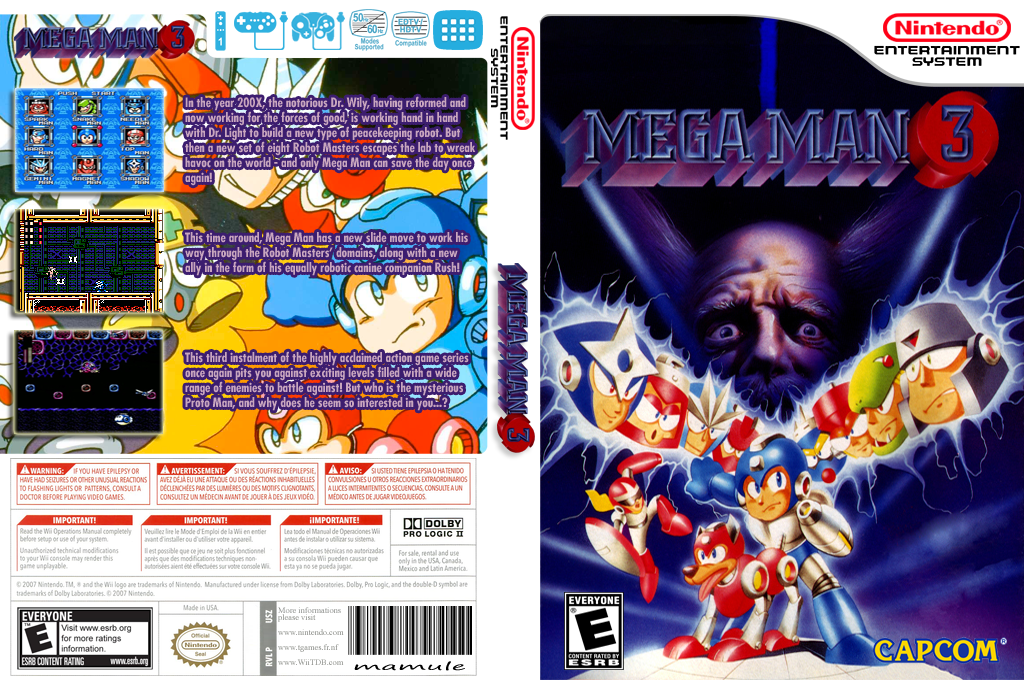 Mega Man 3 Wii coverfullHQ (FD7E)