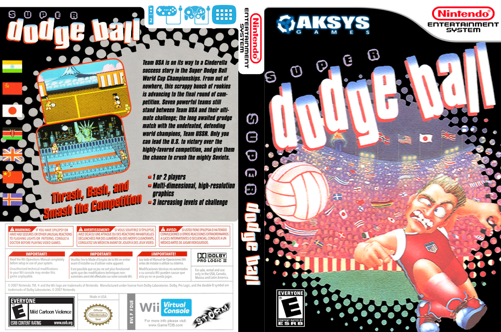 Super Dodge Ball Wii coverfullHQ (FDUE)
