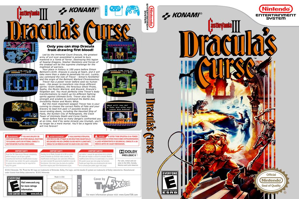 Castlevania III: Dracula's Curse Wii coverfullHQ (FEQE)