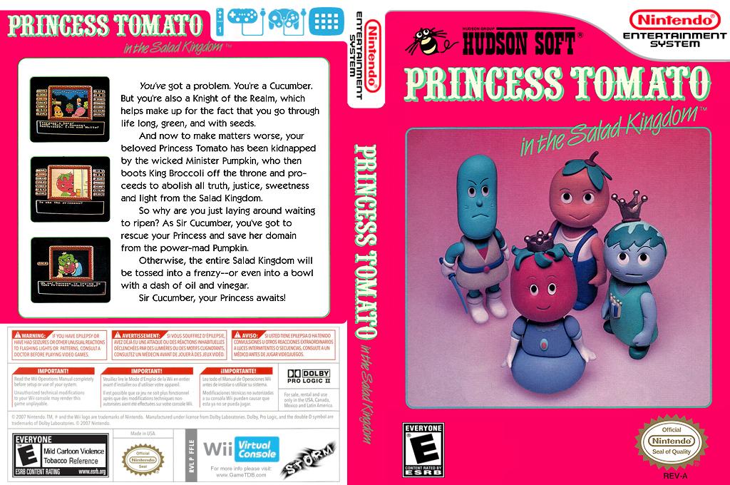 Princess Tomato in the Salad Kingdom Wii coverfullHQ (FFLE)