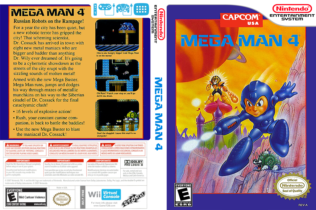 Mega Man 4 Wii coverfullHQ (FFNE)