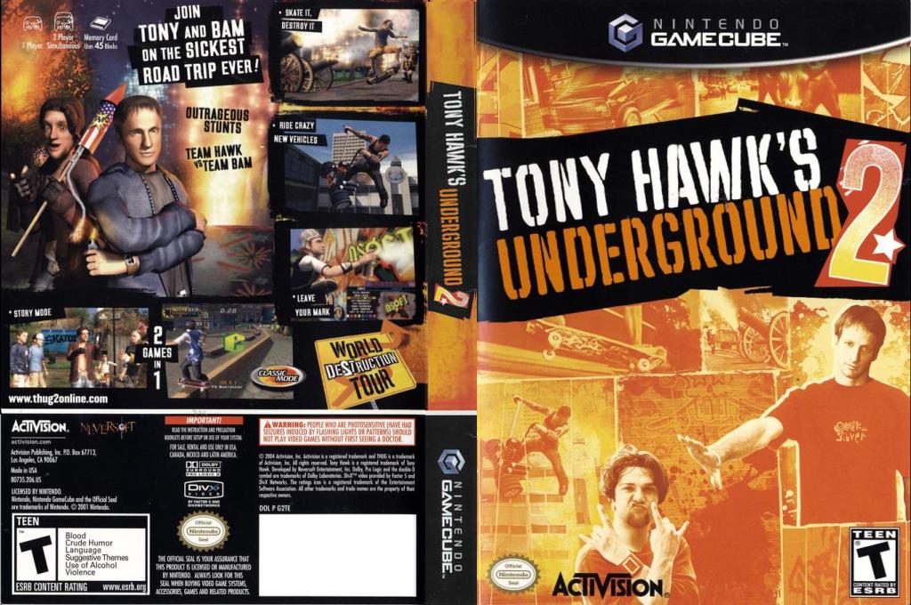 Tony Hawk's Underground 2 Wii coverfullHQ (G2TE52)