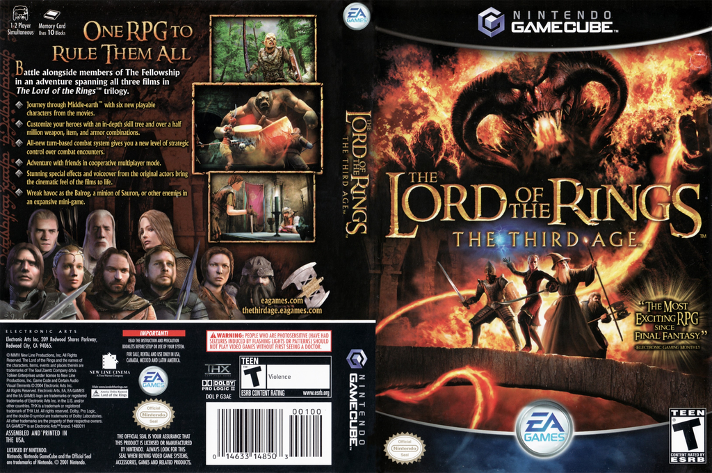 The Lord of the Rings: The Third Age Wii coverfullHQ (G3AE69)