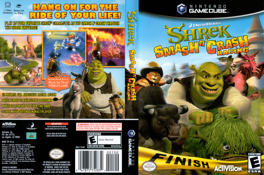 Shrek Smash n' Crash Racing Wii coverfullHQ (G4IE52)
