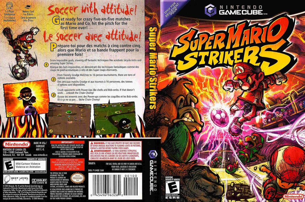 Super Mario Strikers Array coverfullHQ (G4QE01)