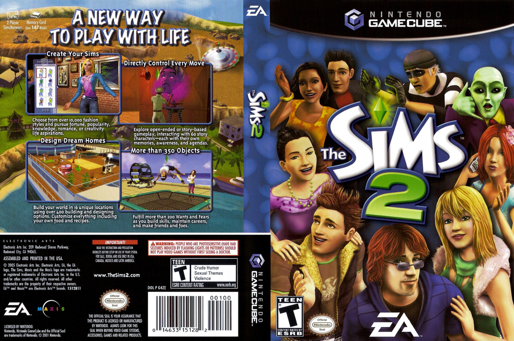 The Sims 2 Wii coverfullHQ (G4ZE69)