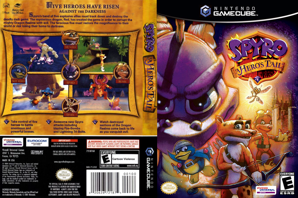 Spyro: A Hero's Tail Wii coverfullHQ (G5SE7D)