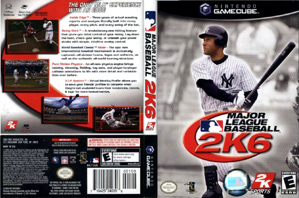 Major League Baseball 2k6 Wii coverfullHQ (G62E54)