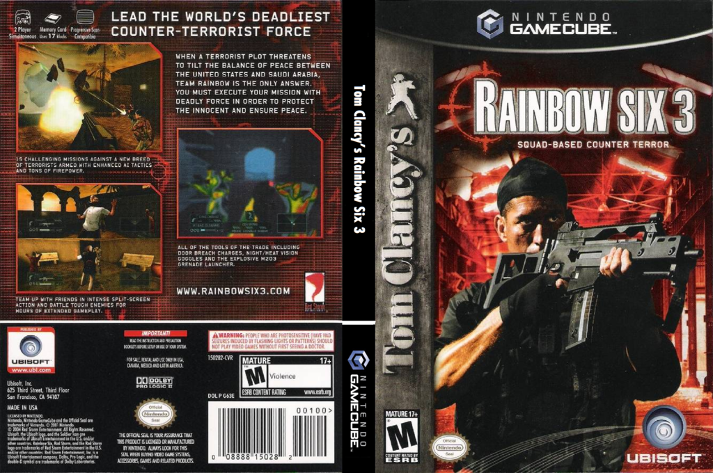 Tom Clancy's Rainbow Six 3 Wii coverfullHQ (G63E41)