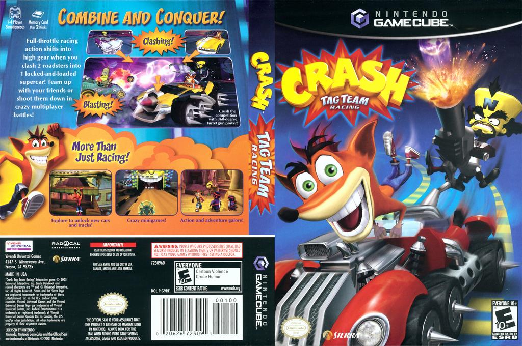 Crash Tag Team Racing Wii coverfullHQ (G9RE7D)
