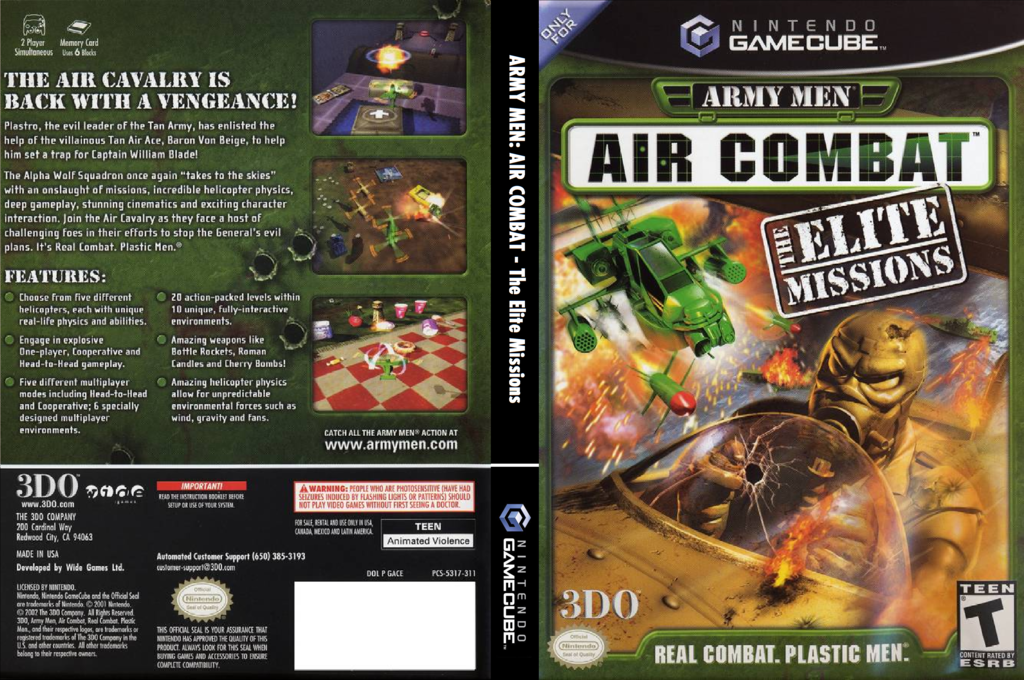Army Men: Air Combat The Elite Missions Wii coverfullHQ (GACE5H)