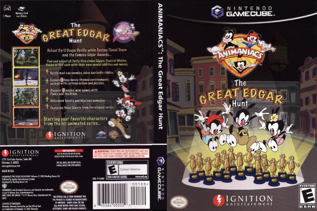 Animaniacs: The Great Edgar Hunt Wii coverfullHQ (GANE7U)