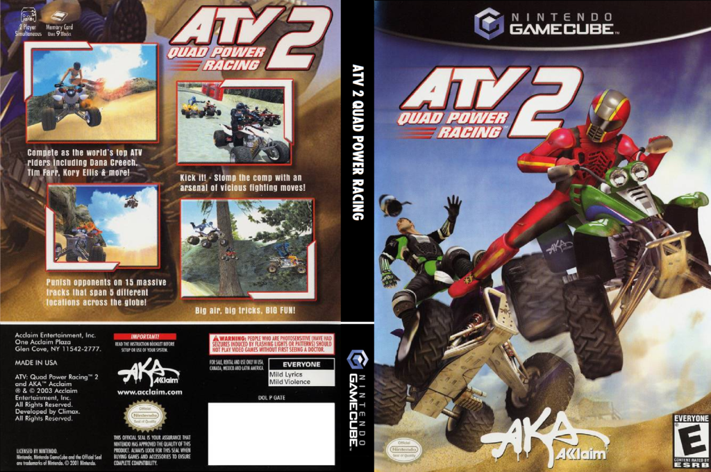ATV Quad Power Racing 2 Wii coverfullHQ (GATE51)