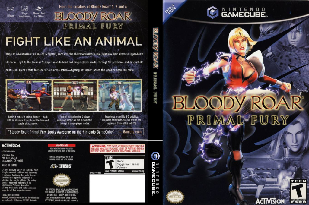 Bloody Roar: Primal Fury Array coverfullHQ (GBLE52)